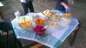 V rámci edukácie seniorov o zdravej výžive podávali aj zdravé jedlo.